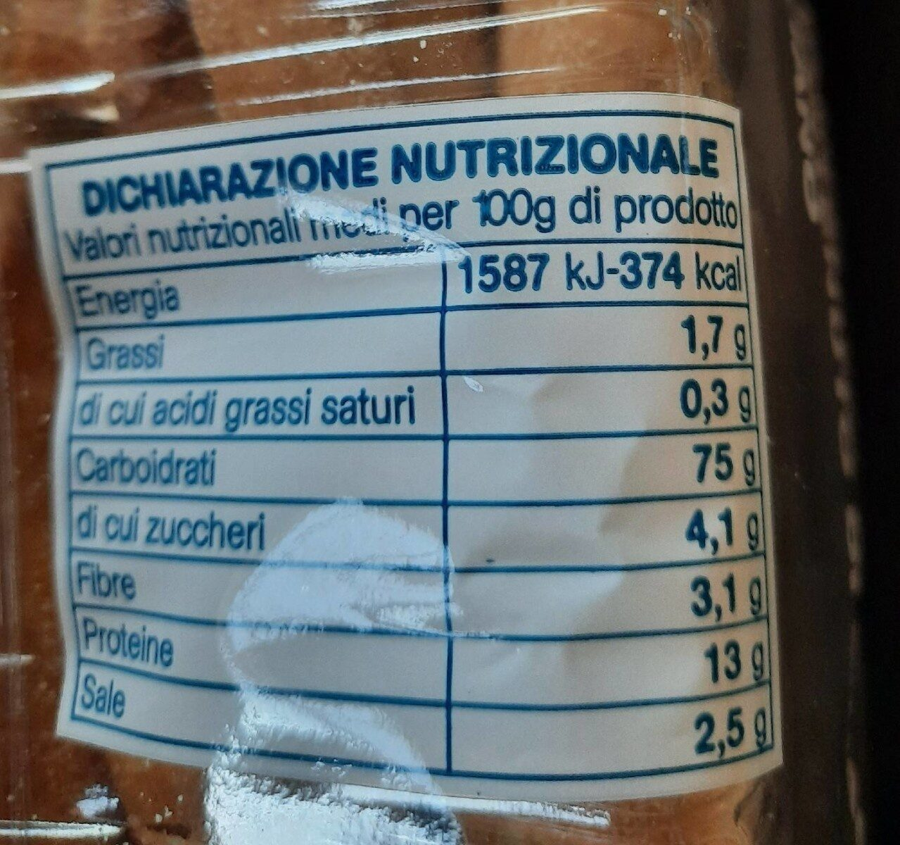 Grissini - Informations nutritionnelles - fr