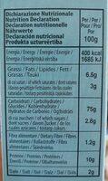 Grissini - Nutrition facts - en