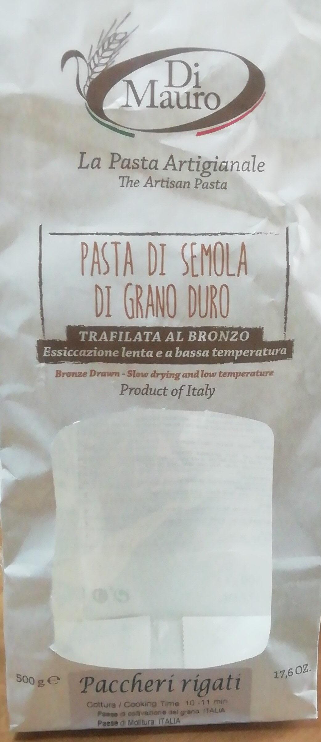 Pasta di Semola di grano duro Paccheri rigati - Product