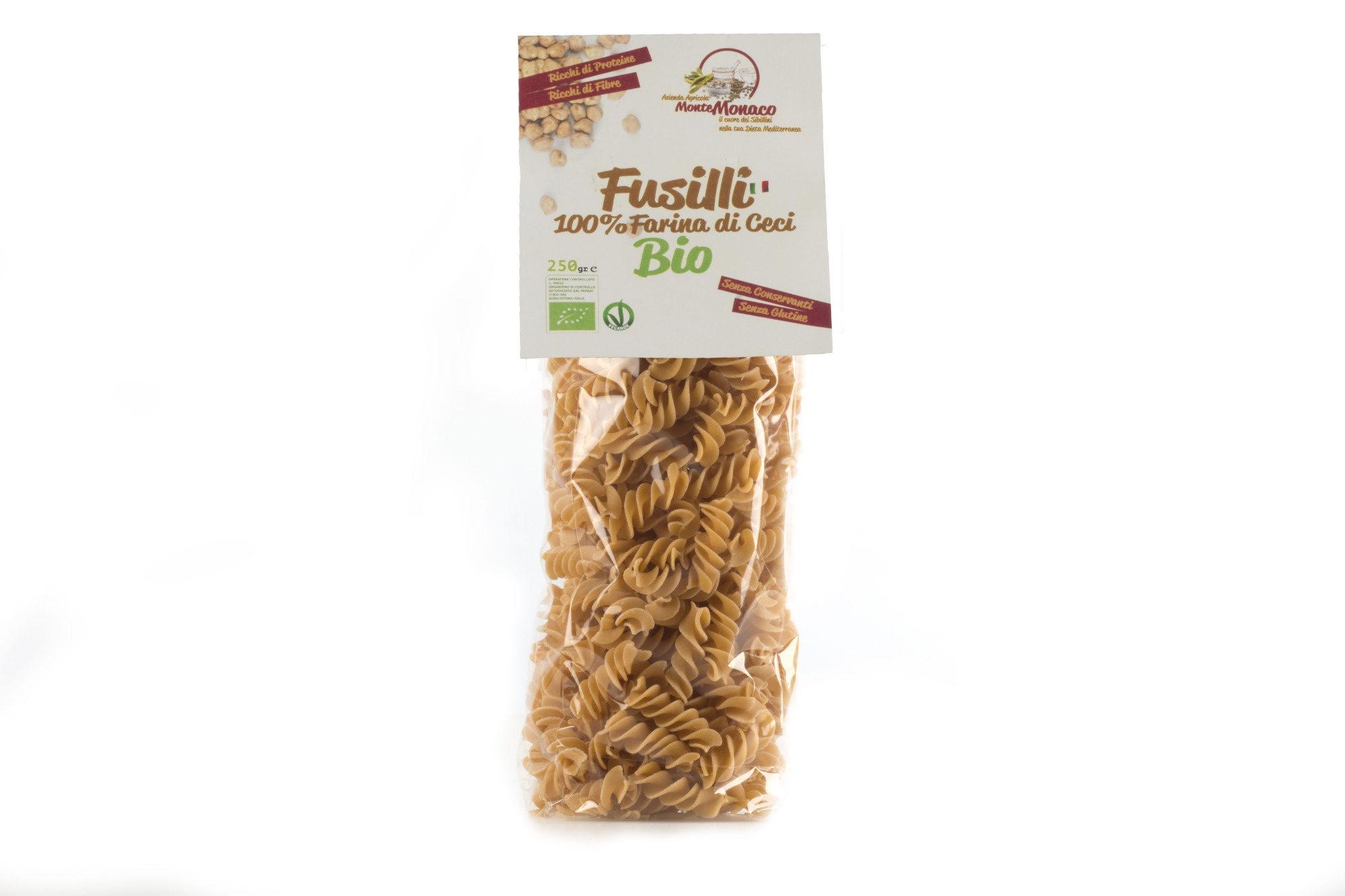 Fusilli 100% Farina di Ceci BIO - Azienda Agricola Monte Monaco - Product - it