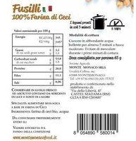 Fusilli 100% Farina di Ceci BIO - Azienda Agricola Monte Monaco - Ingredients - it