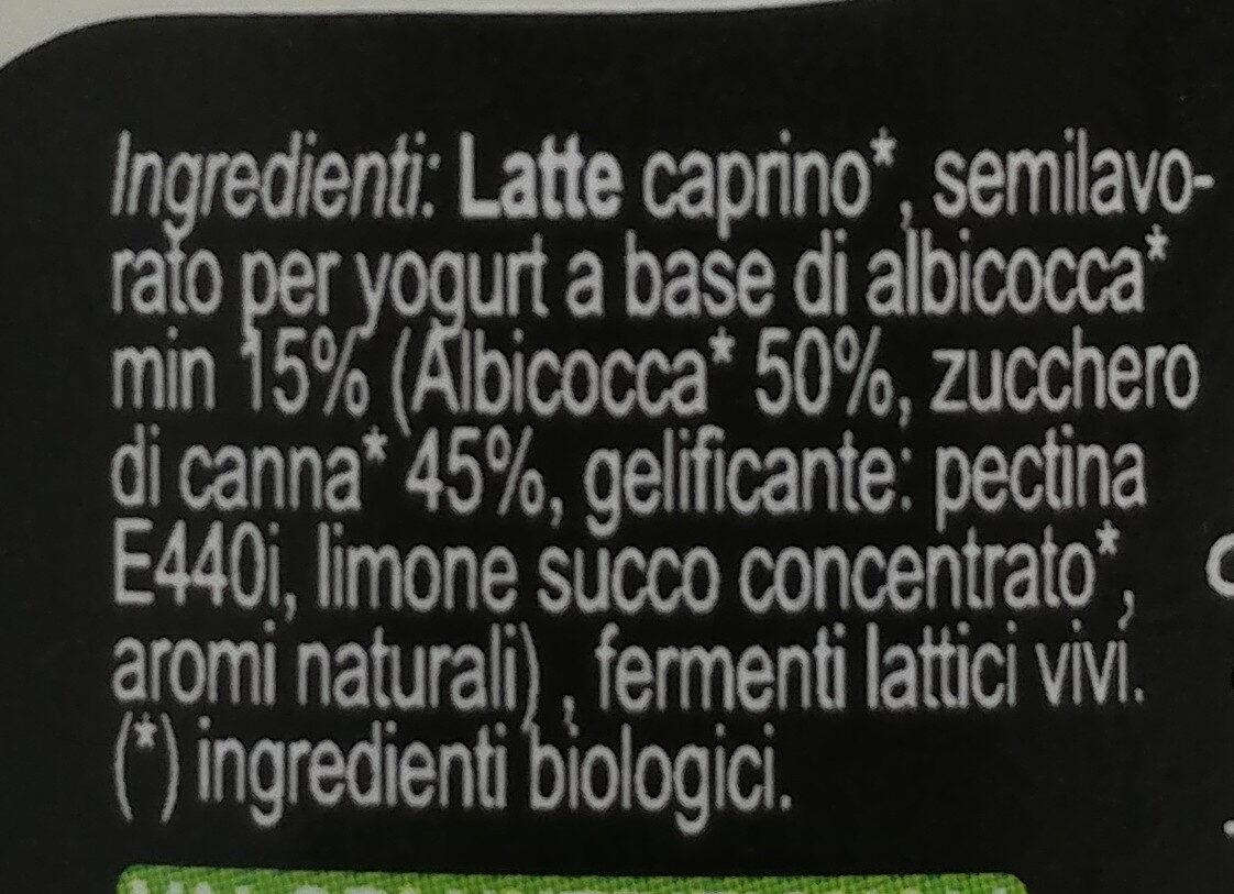 yogurt bio di capra - Ingredients - it