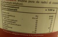 Inulina - Informazioni nutrizionali
