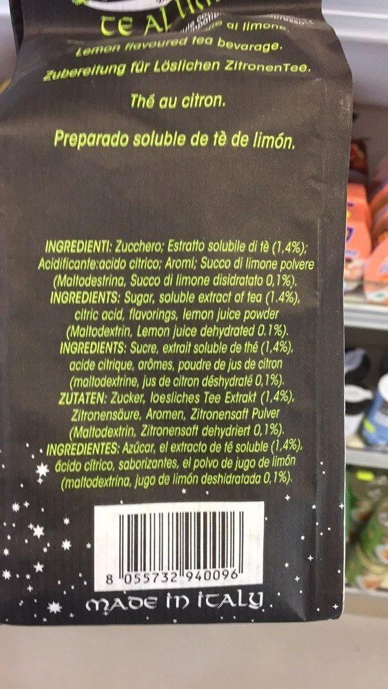 Te al limone 25 capsule - Ingrediënten - fr