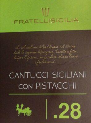 Cantucci siciliani con pistacchi - Product - fr