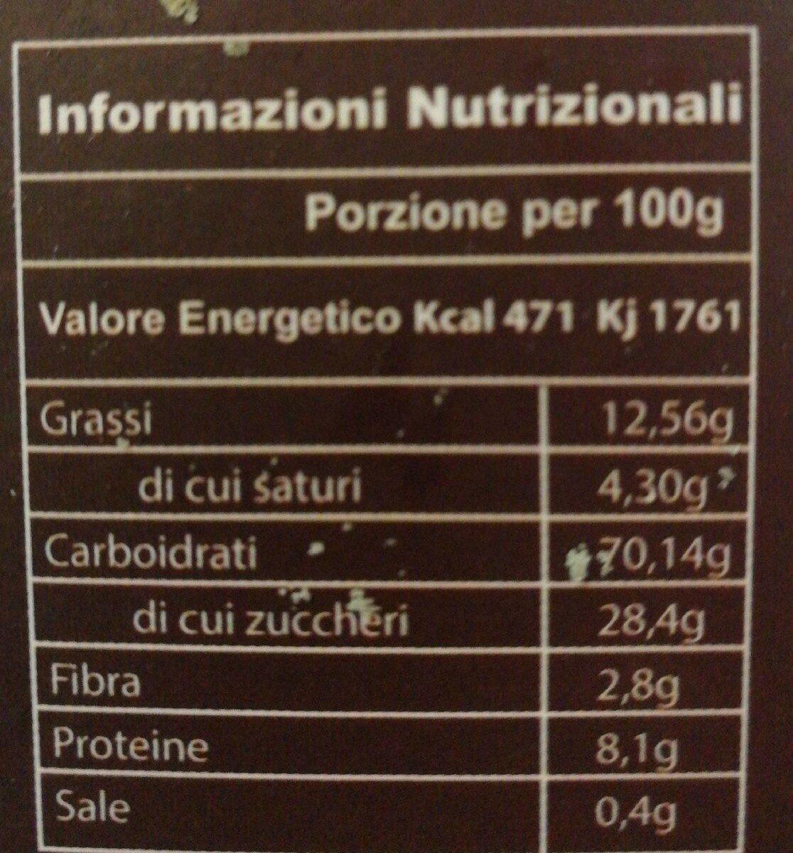Cantucci siciliani con pistacchi - Voedingswaarden - fr