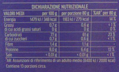 Riso basmati - Valori nutrizionali - it