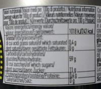 Pâte de noix vertes confites - Voedingswaarden - fr