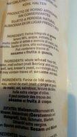 Grissini Integrali S. andrea 200 GR - Ingrediënten - fr