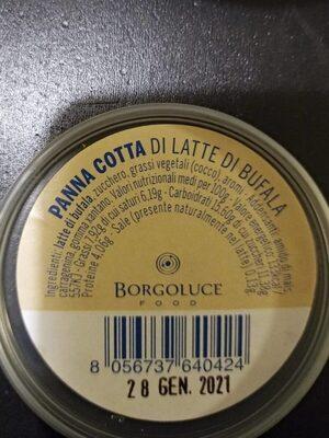 Panna cotta di latte di bufala - Voedingswaarden - fr