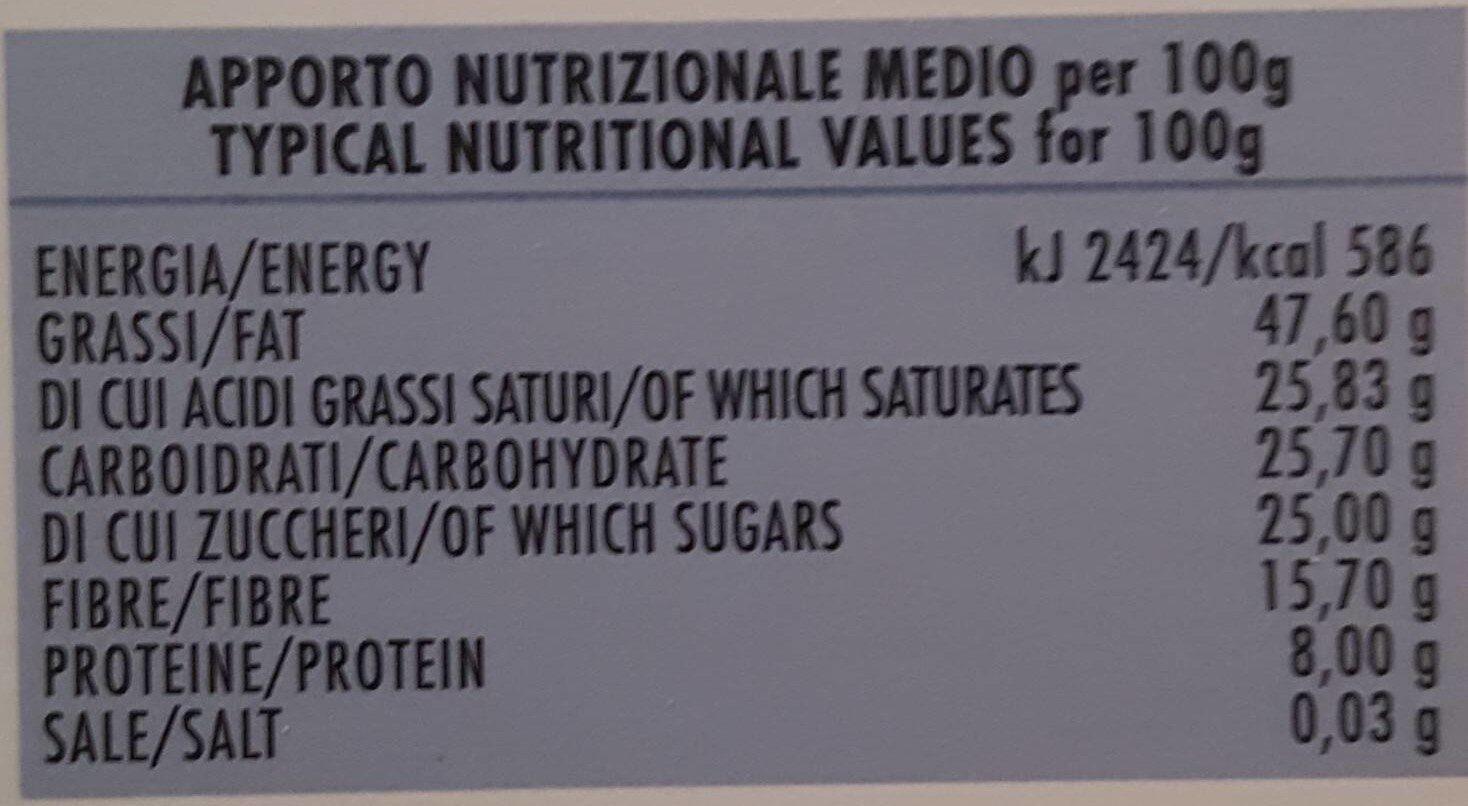 Cioccolato fondente - Informations nutritionnelles - it