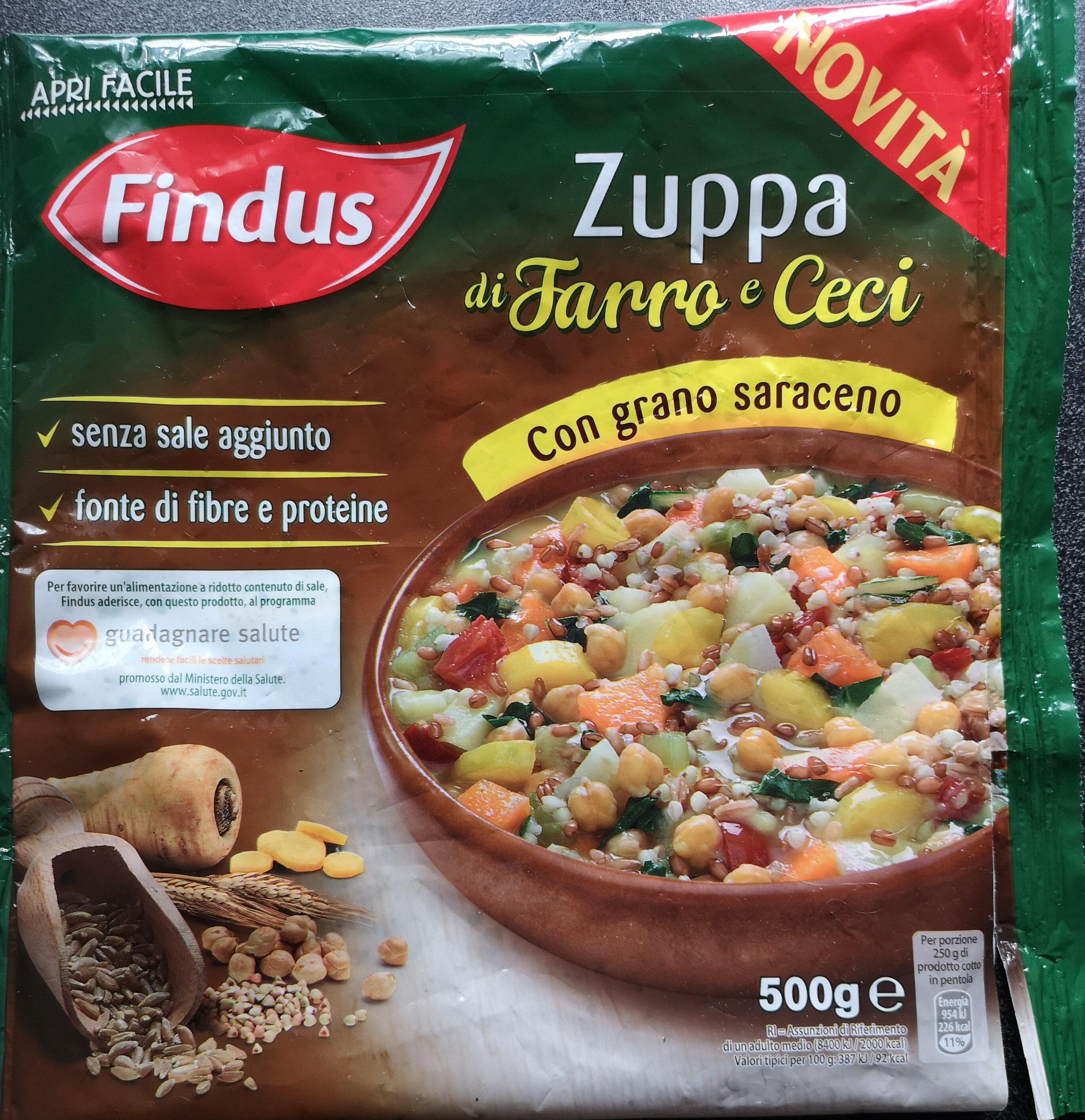 zuppa di farro e ceci - Product - it