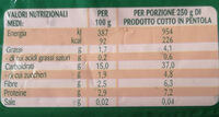 zuppa di farro e ceci - Nutrition facts - it