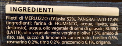 I gratinati merluzzo d'Alaska con erbe mediterranee - Ingrédients - it