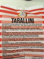 Tarallini - Ingrédients - fr