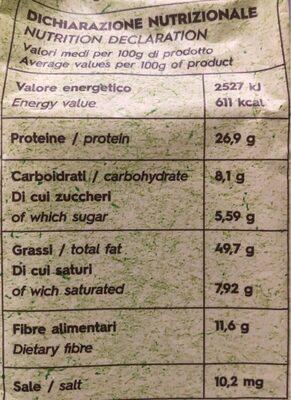 Arachidi bio organic - Informations nutritionnelles - fr