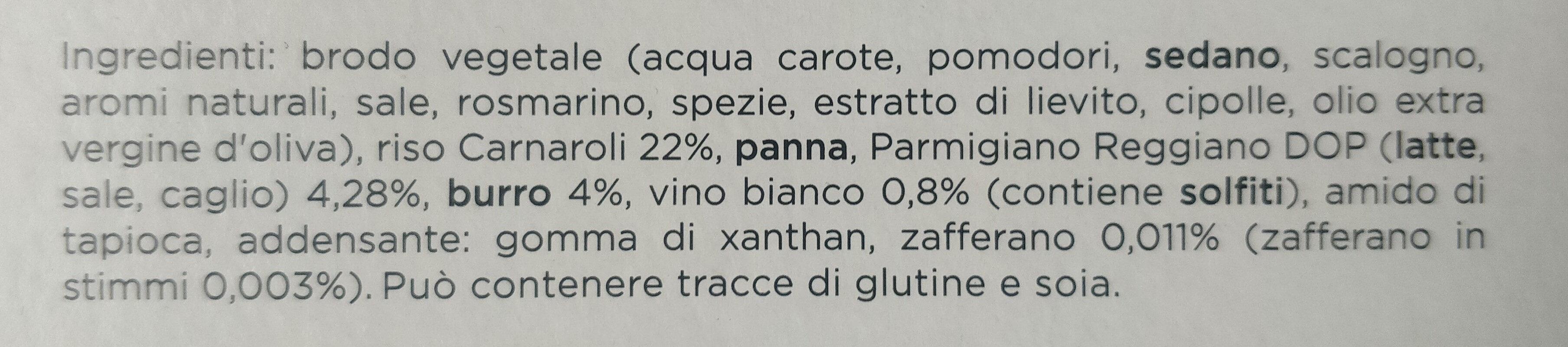 gran risotto mantecato all'onda allo zafferano - Ingredienti - it