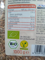 dmBio Dinkel - Informations nutritionnelles - de