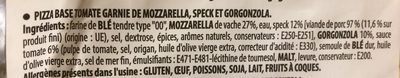 Pizza Tirolese - Ingrédients - fr