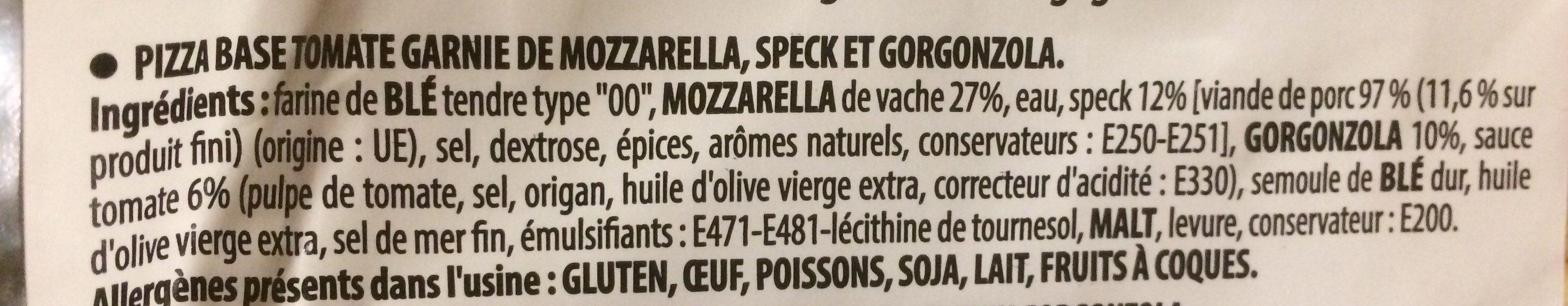 Pizza Tirolese - Ingrédients