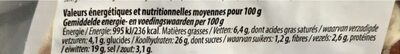 Pizza Tirolese - Informations nutritionnelles - fr