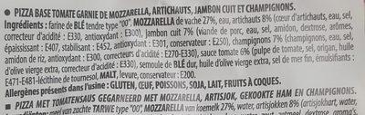 Pizza Capricciosa - Ingrédients - fr