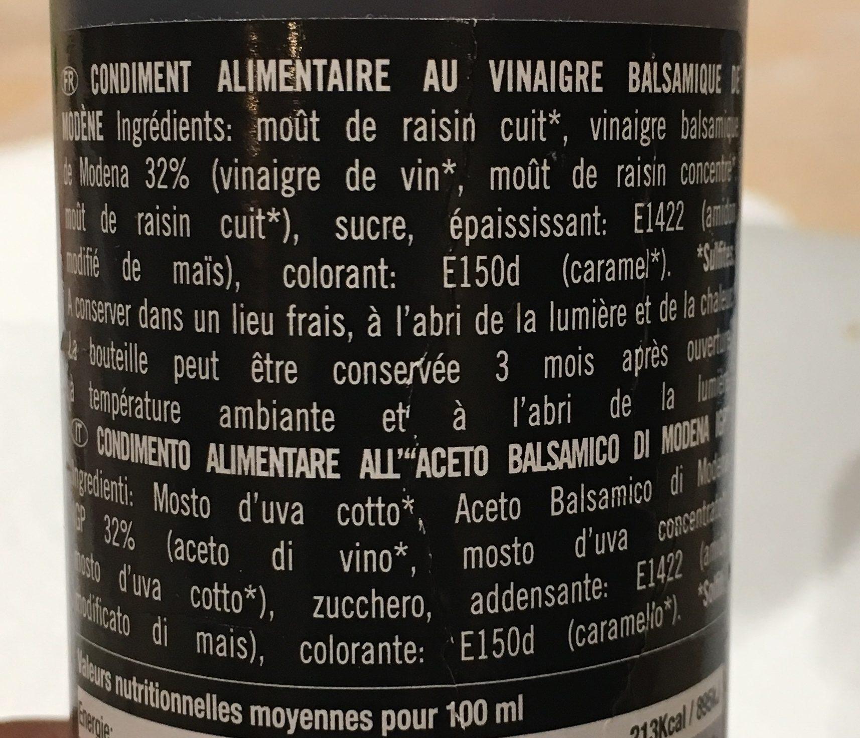Crema - Ingredients - fr