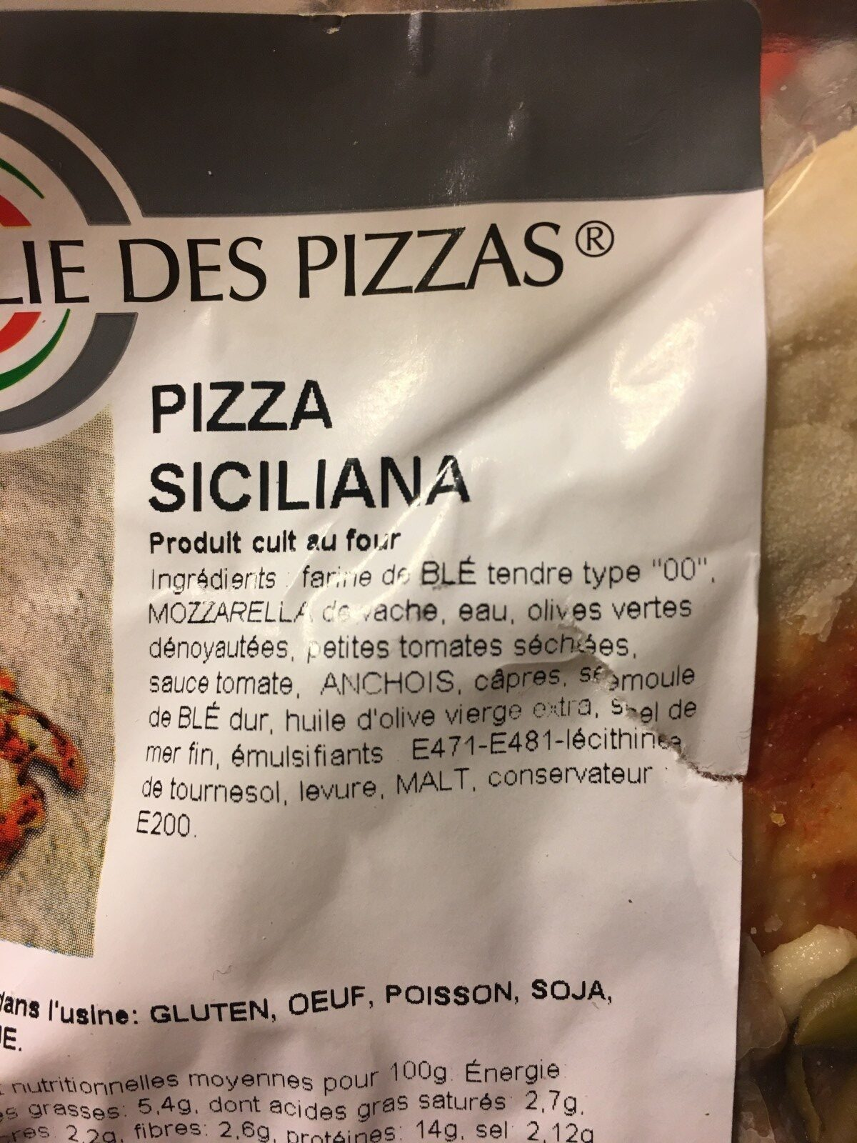 Pizza Regina - Ingrédients - fr