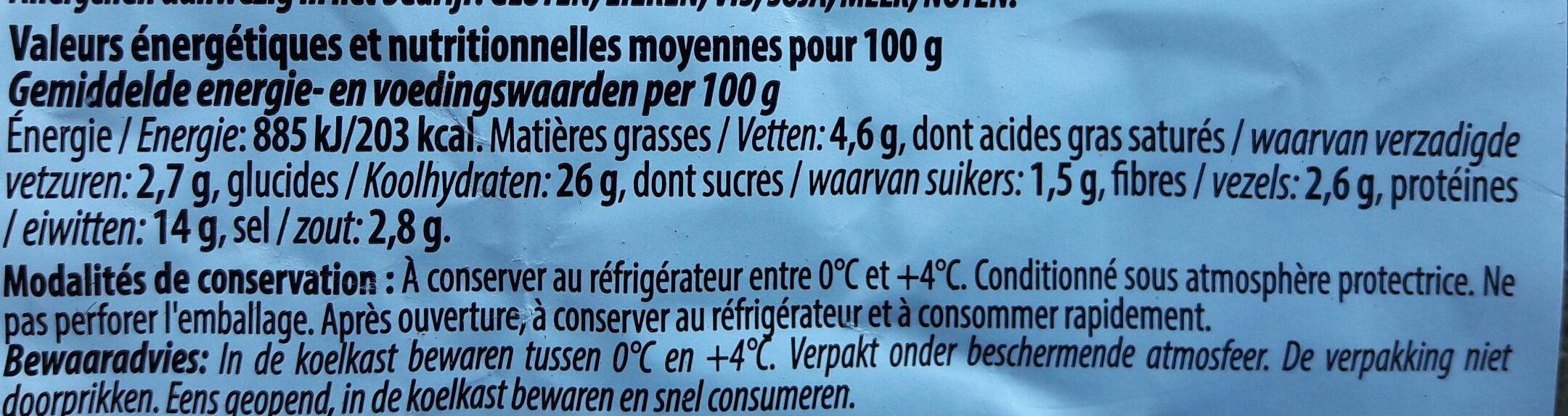 Pizza Regina - Informations nutritionnelles - fr