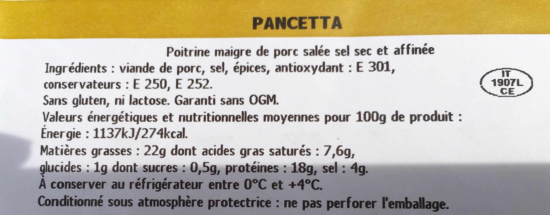 Pancetta - Ingrediënten - fr