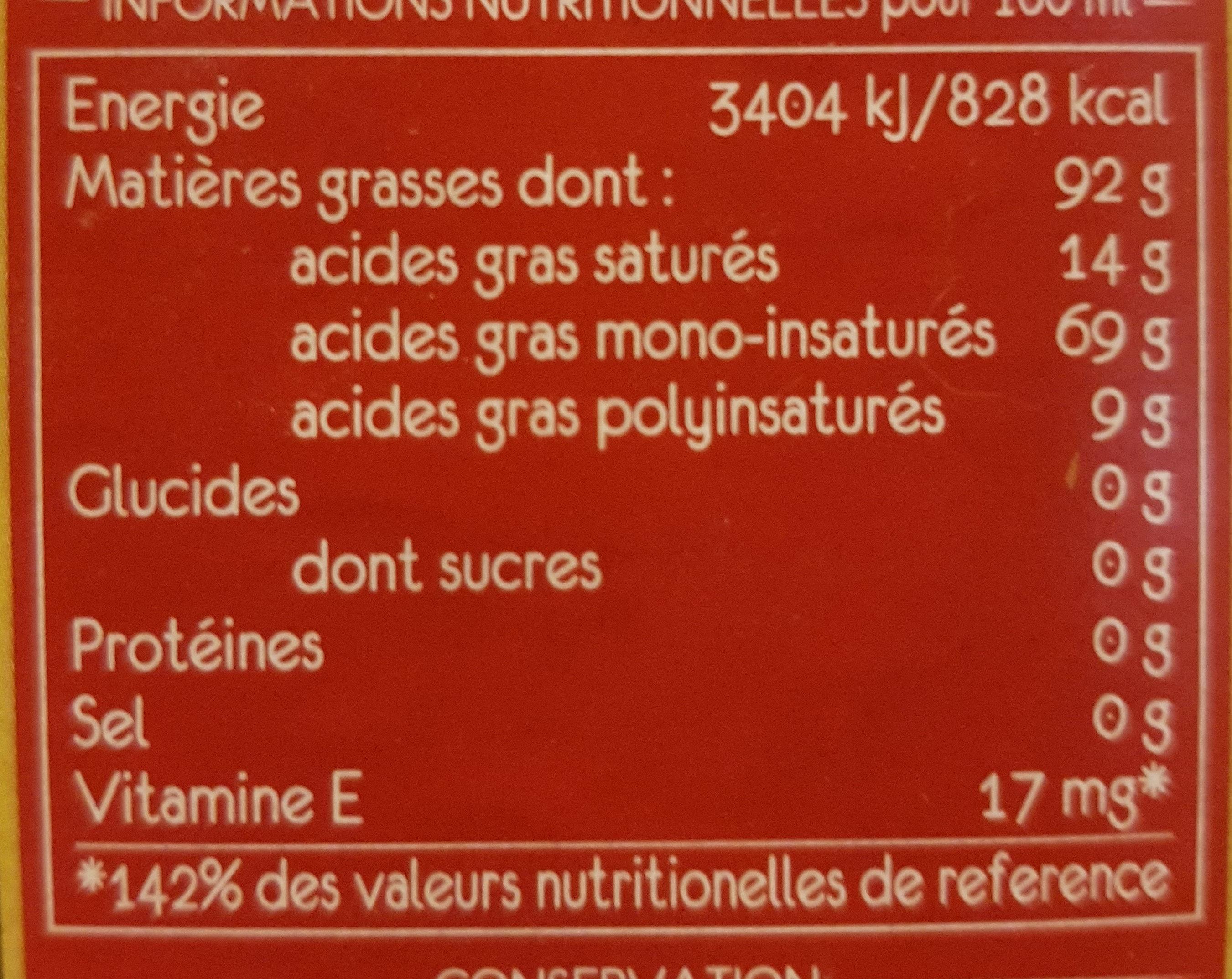 Huile d'olive vierge extra - Valori nutrizionali - it