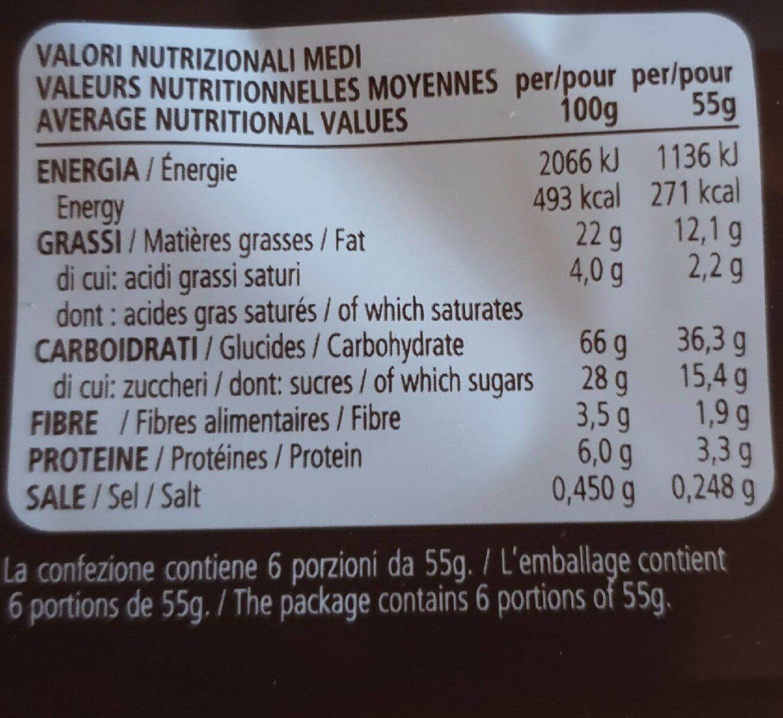 Ringo Cacao X25 - Voedingswaarden - en