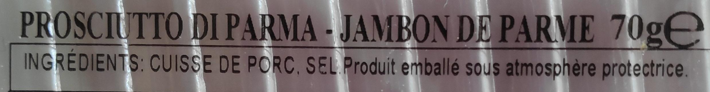 Jambon de parme Citterio - Ingredients