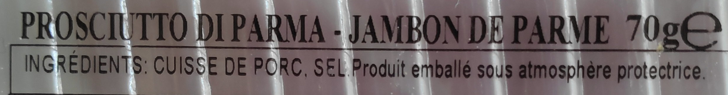 Jambon de parme Citterio - Ingrediënten