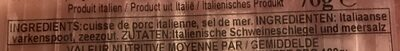 Prosciutto di san daniele - Ingrediënten - nl
