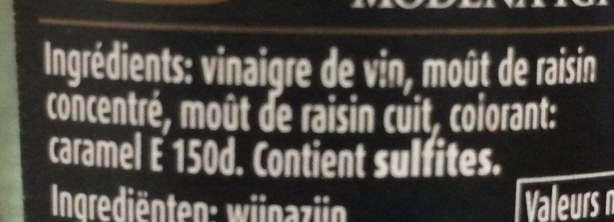 Balsamic Vinegar of Modena - Ingredients - fr