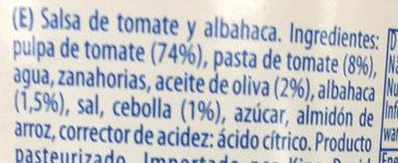 Sugo al Basilico - Ingredientes