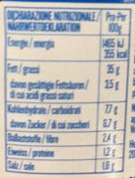 Pesto rosso Agnesi - Nutrition facts