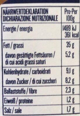 Pesto rosso Agnesi - Nutrition facts - it