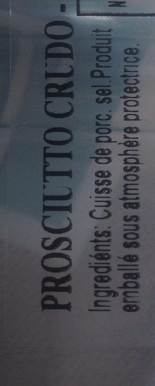Citterio il Prosciutto Crudo - Ingredients