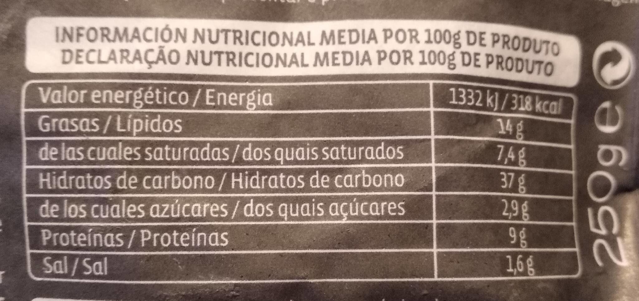 Gourmet Gorgonzola y nueces - Informations nutritionnelles - fr