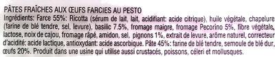 Pâtes fraîches aux œufs farcies au pesto - Ingredients - fr
