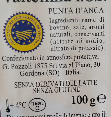 bresaola della Valtellina i.g.p. - Ingrédients - it