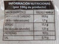 Rosquilletas Garcia - Informació nutricional - es
