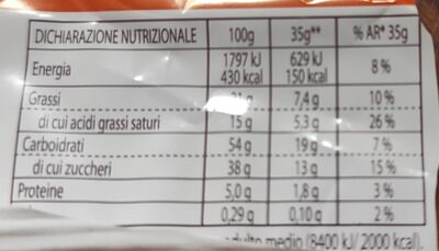 Choco-Orange - Nutrition facts - en