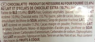 Balconi choco & latte - Ingredients