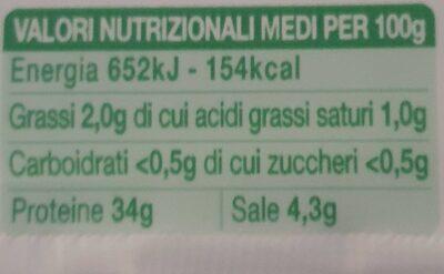 Citterio Sofficette Bresaola Della Valtellina 60g - Valori nutrizionali - fr