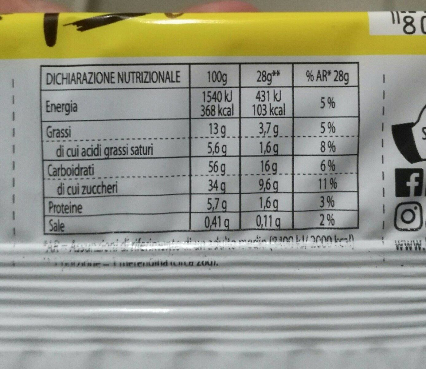 Trancetto Cacao - Nutrition facts - fr