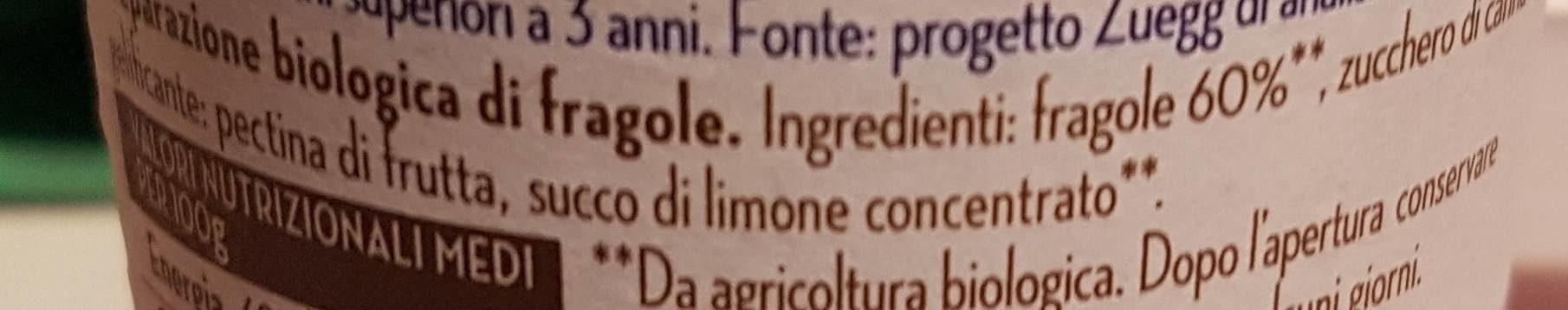 Biocremosa fragole - Ingrediënten