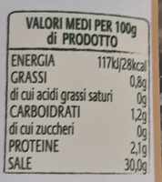 Capperi al Sale Marino - Nutrition facts - it
